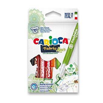 Obrázek produktu Fixy Carioca Fabric - 10 barev, slabý hrot