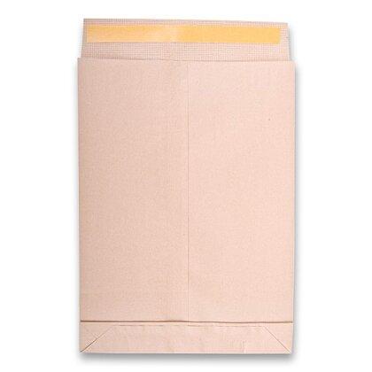 Obrázek produktu Poštovní taška - B4, textilní, křížové dno, samolepicí s krycí páskou, 10 ks