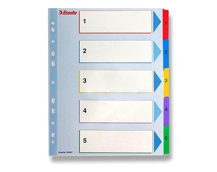 Obrázek produktu Papírový rozlišovač Esselte Project Maxi - A4 +, barevný, 1-5 (5 listů)