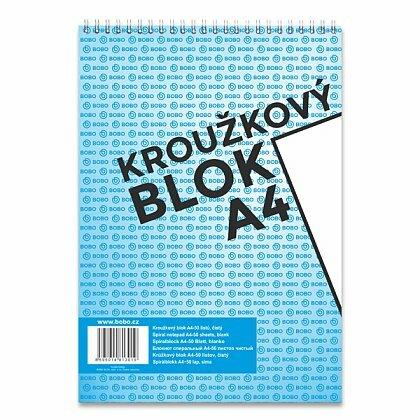 Obrázok produktu Bobo blok - krúžkový blok - A4, 50 l., čistý