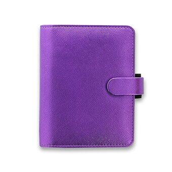 Obrázek produktu Kapesní diář Filofax Saffiano metallic A7 - fialový
