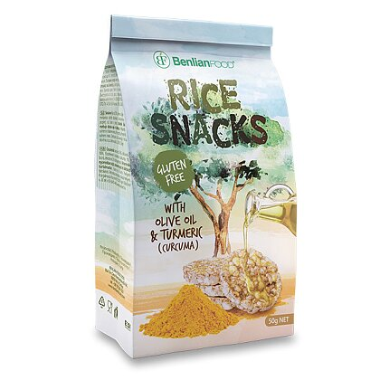 Product image Rice Snacks - rice sandwiches - turmeric, 50 g