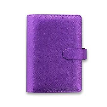 Obrázek produktu Osobní diář Filofax Saffiano metallic A6 - fialový