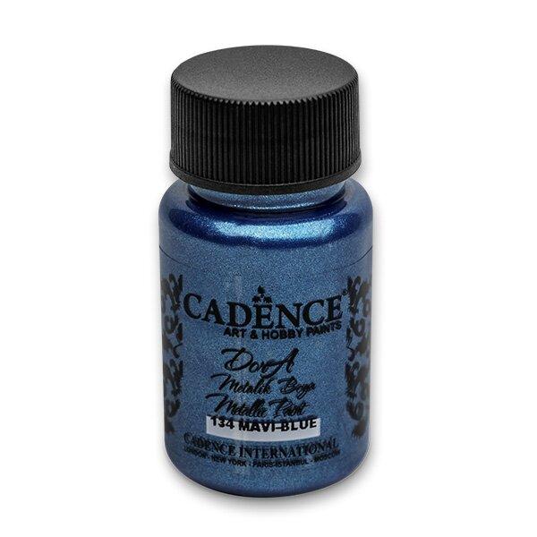 Akrylové barvy Cadence Dora Metalic modrá