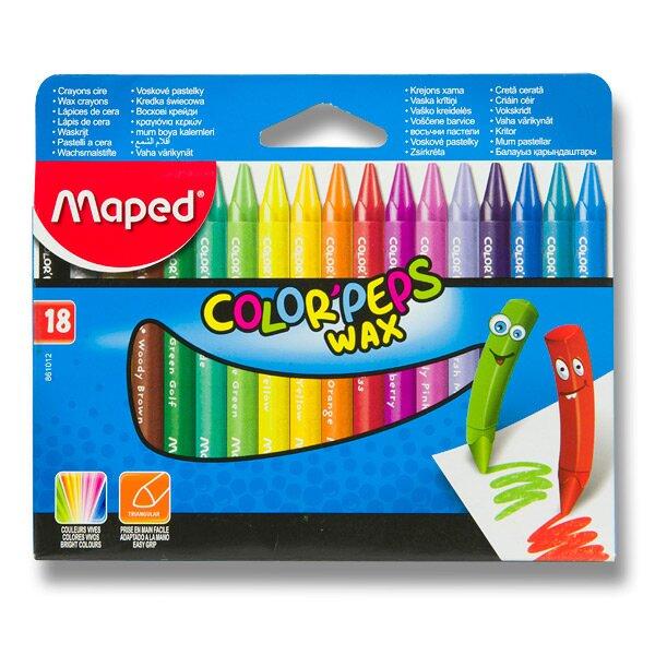 Voskovky Maped Color'Peps Wax 18 barev, trojhranné