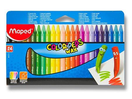 Obrázek produktu Voskovky Maped Color'Peps Wax - 24 barev, trojhranné