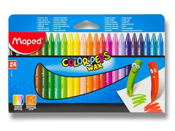 Voskovky Maped Color'Peps Wax 24 barev, trojhranné
