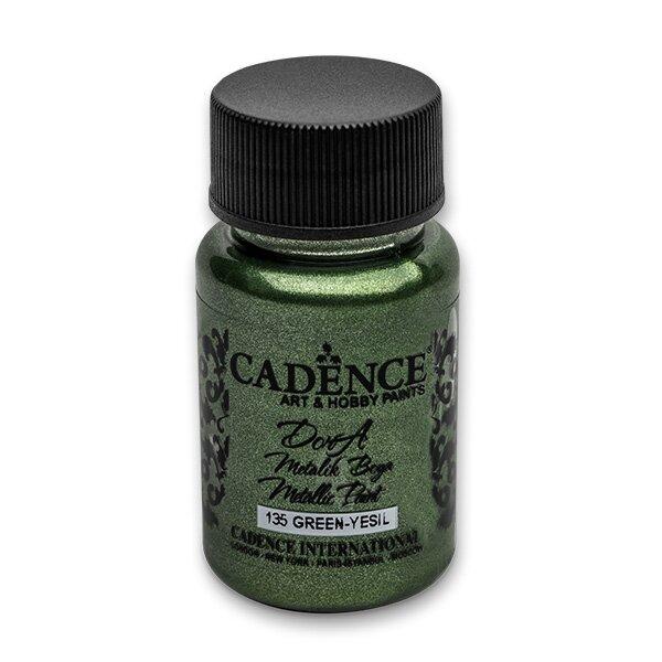 Akrylové barvy Cadence Dora Metalic zelená