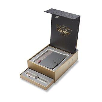 Obrázek produktu Parker Sonnet Pearl PGT - plnicí pero 18K, dárková sada se zápisníkem