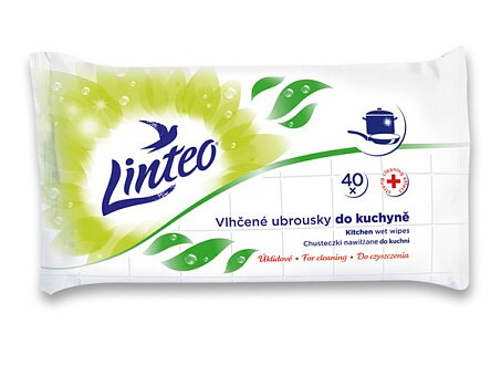 Obrázek produktu Vlhčené ubrousky Linteo - do kuchyně, 40 ks