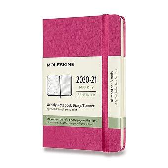Obrázek produktu 18měsíční diář Moleskine 2020-21 - tvrdé desky - S, týdenní, růžový