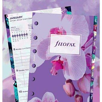 Obrázek produktu Floral 2018 - náplň kapesních diářů Filofax