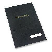 Podpisová kniha v černých deskách