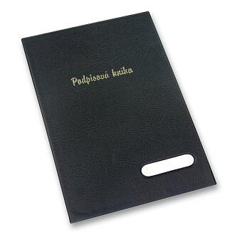 Obrázek produktu Podpisová kniha v černých deskách - A4, 16 listů