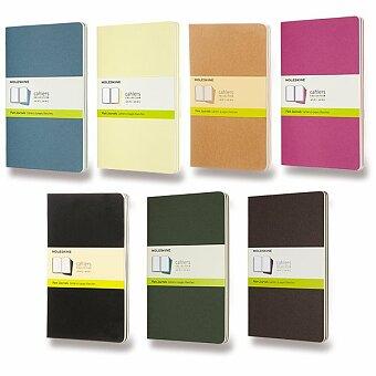 Obrázek produktu Notes Moleskine Cahier - tvrdé desky - L, čistý, 3 ks, výběr barev