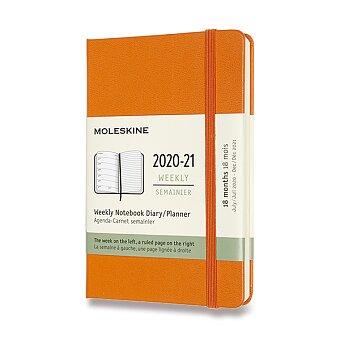 Obrázek produktu 18měsíční diář Moleskine 2020-21 - tvrdé desky - S, týdenní, výběr barev