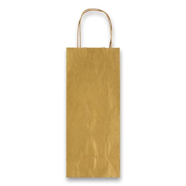 Dárková taška Allegra zlatá, lahev