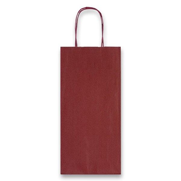 Dárková taška Allegra tm. červená, lahev