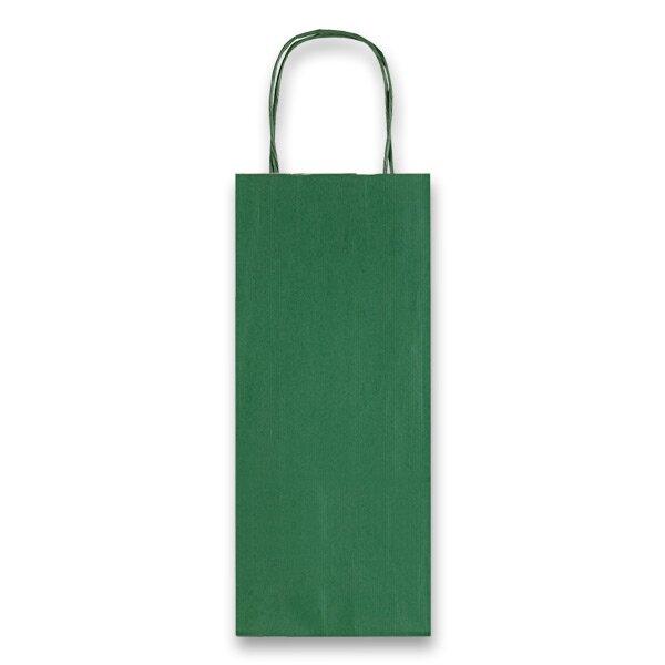 Dárková taška Allegra zelená, lahev