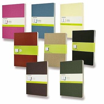 Obrázek produktu Notes Moleskine Cahier - tvrdé desky - XL, čistý, 3 ks, výběr barev