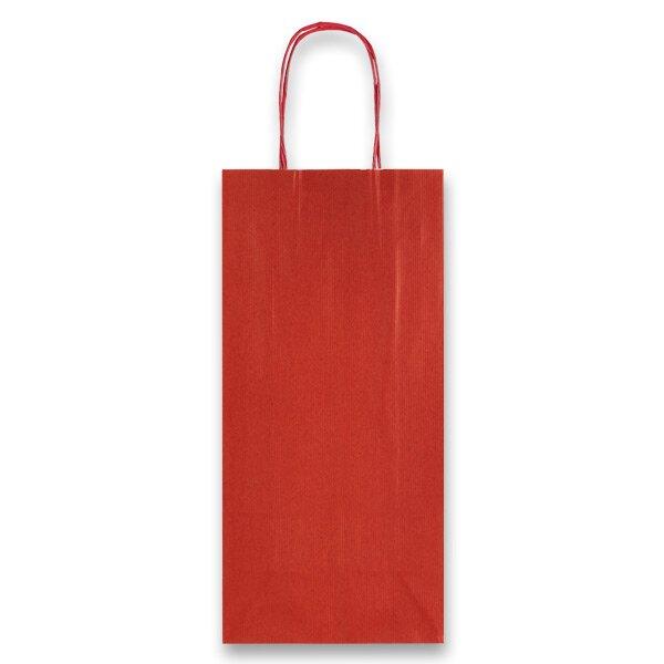 Dárková taška Allegra rubínová, lahev