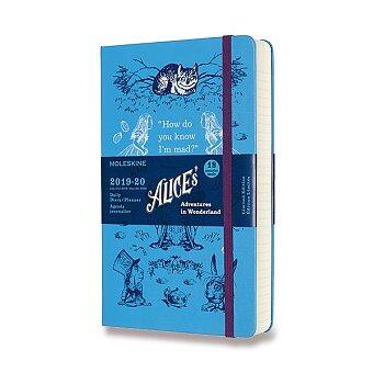 Obrázek produktu 18měsíční diář Moleskine 2019-20 Alice in Wonderland, tvrdé desky - L, denní, modrý