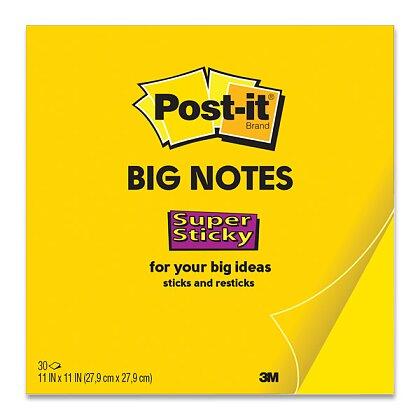 Obrázek produktu 3M Post-it Big Notes - silně lepicí velké bločky - 279 x 279 mm, 30 l.