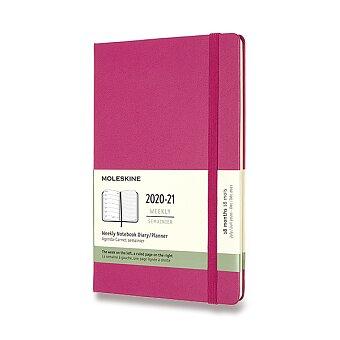 Obrázek produktu 18měsíční diář Moleskine 2020-21 - tvrdé desky - L, týdenní, výběr barev