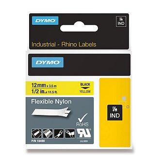 Obrázek produktu Originální nylonová flexibilní páska Dymo Rhino 18491 - černožlutá, 12 mm x 3,5 m