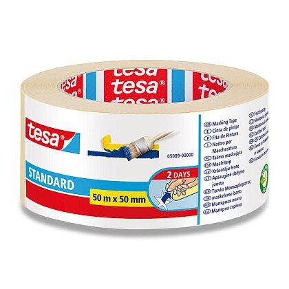 Obrázek produktu Tesa Masking Tape - lehce odstranitelná lepicí páska - 50 mm × 50 m