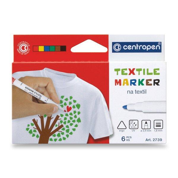 Značkovač Centropen 2739 na textil 6 barev