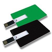 USB VII. - USB ve tvaru kreditní karty, velikost 8 GB, výběr barev