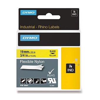Obrázek produktu Pernamentní nylonová flexibilní páska Dymo D1 - černožlutá, 19 mm x 3,5 m
