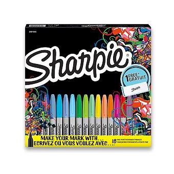 Obrázek produktu Permanentní popisovač Sharpie Fine - sada 18 ks + pouzdro