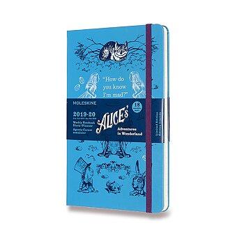 Obrázek produktu 18měsíční diář Moleskine 2019-20 Alice in Wonderland, tvrdé desky - L, týdenní, modrý