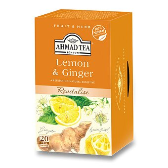 Obrázek produktu Ovocný čaj Ahmad Tea Citron a zázvor - 20 sáčků