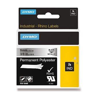 Obrázek produktu Permanentní polyesterová páska Dymo D1 - černometalická, 9 mm x 5 m