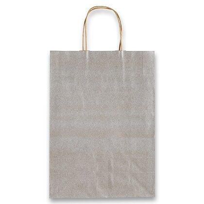 Obrázek produktu Sadoch Allegra - papírová taška - vel. S, stříbrná