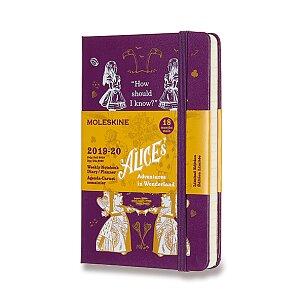 18měsíční diář Moleskine 2019-20 Alice in Wonderland, tvrdé desky