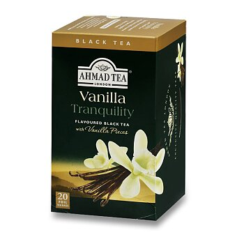 Obrázek produktu Černý čaj Ahmad Tea Vanilla Tranquility - 20 sáčků