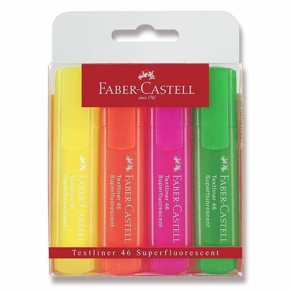Zvýrazňovač Faber-Castell Textliner 1546 4 kusy
