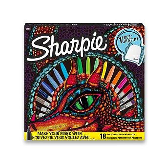 Obrázek produktu Permanentní popisovač Sharpie Fine - sada 18 ks + vak