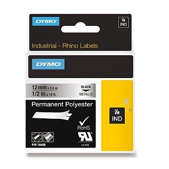 Obrázek produktu Permanentní polyesterová páska Dymo D1 - černometalická, 12 mm x 5 m