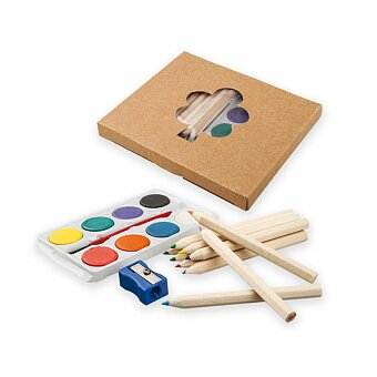 Obrázek produktu OSTADE - sada dřevěných pastelek, vodových barev, štětce a ořezávátka
