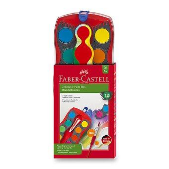 Obrázek produktu Vodové barvy Faber-Castell Connector - 12 barev, průměr 30 mm