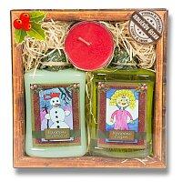 Kosmetická sada Vánoční - v krabičce, 3 ks