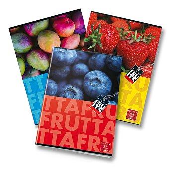 Obrázek produktu Školní sešit Pigna Fruits - A5, čistý, 40 listů, mix motivů