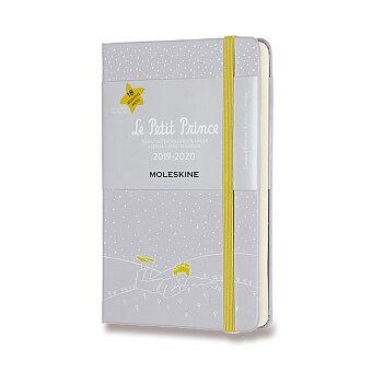 Obrázek produktu 18měsíční diář Moleskine 2019-20 Le Petit Prince, tvrdé desky - S, týdenní, šedý