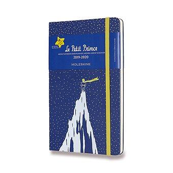 Obrázek produktu 18měsíční diář Moleskine 2019-20 Le Petit Prince, tvrdé desky - L, týdenní, modrý