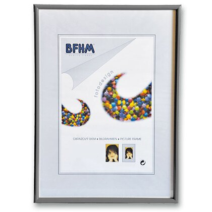 Obrázek produktu BFHM - plastový rám - A2, 42 × 59,4 cm, stříbrný